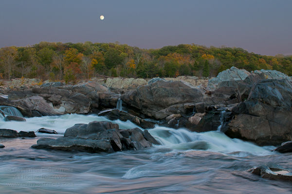 20101021_013: Full Moon Rising at Great Falls National Park #1