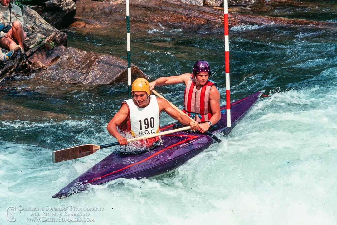 Doubles Canoe at the 1978 Whitewater Slalom Championship