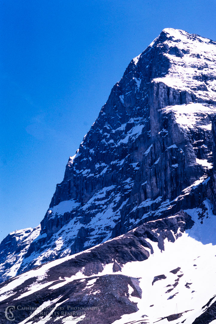1983_Swiss_Alps_015: vertical, Eiger, North Face