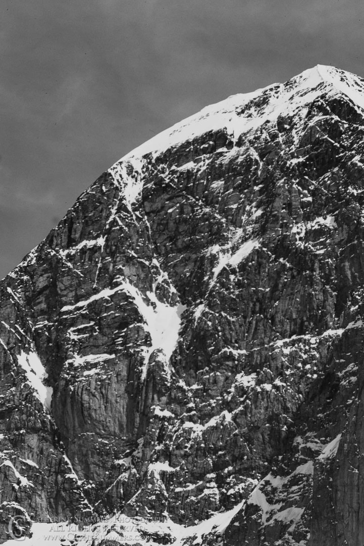 1983_Swiss_Alps_019_BW: grayscale, Eiger, North Face, White Spider, Black & White