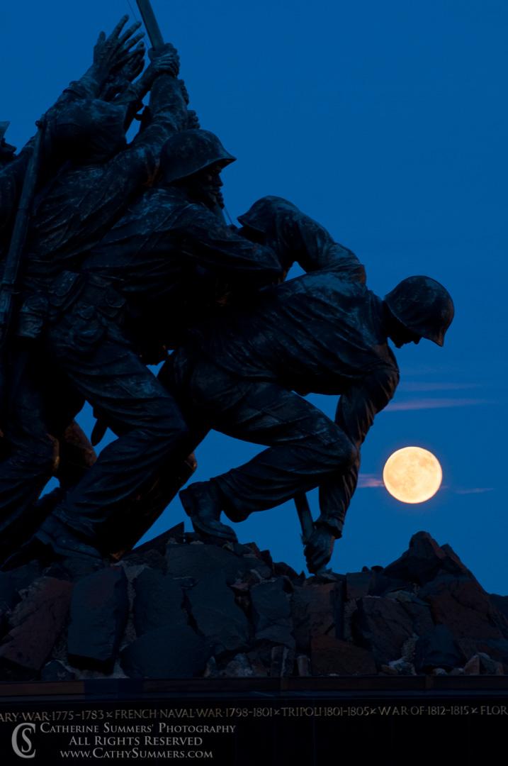 Moon Rising at Iwo Jima Memorial #1
