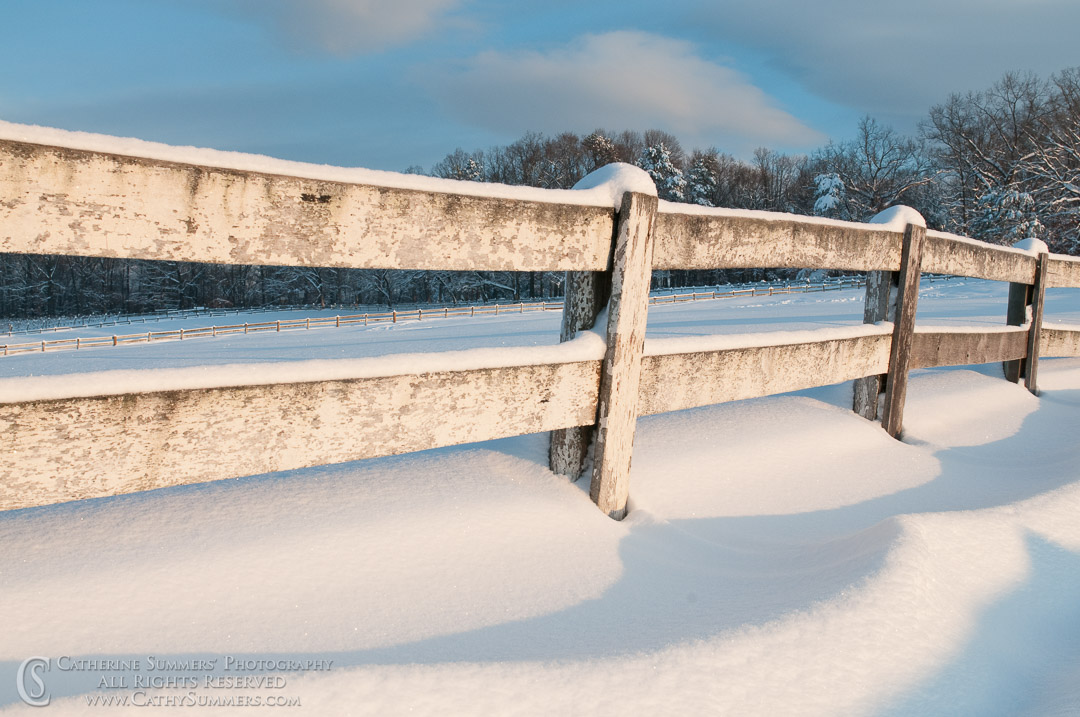 Fence in the Snow: Virginia
