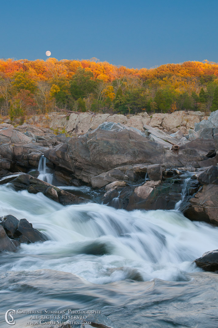 Full Moon Rising at Great Falls National Park #2