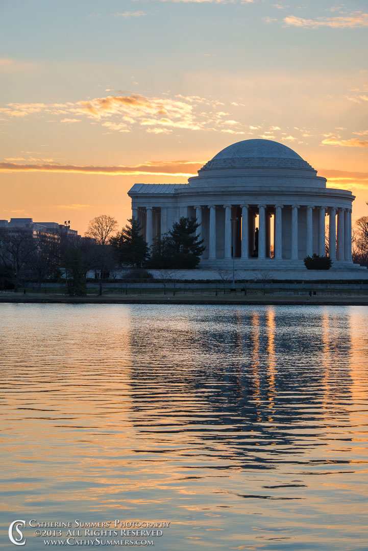 Jefferson Memorial and Reflection in Tidal Basin at Dawn: Washington, DC