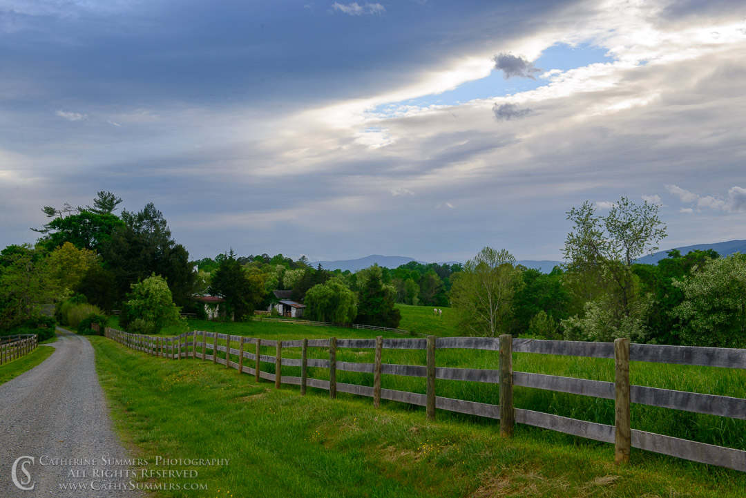 Farm Driveway as a Storm Gathers Over the Blue Ridge