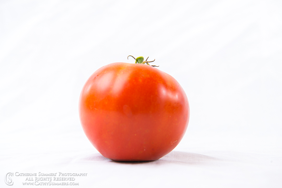 20160916_047: Ripe Tomato on White
