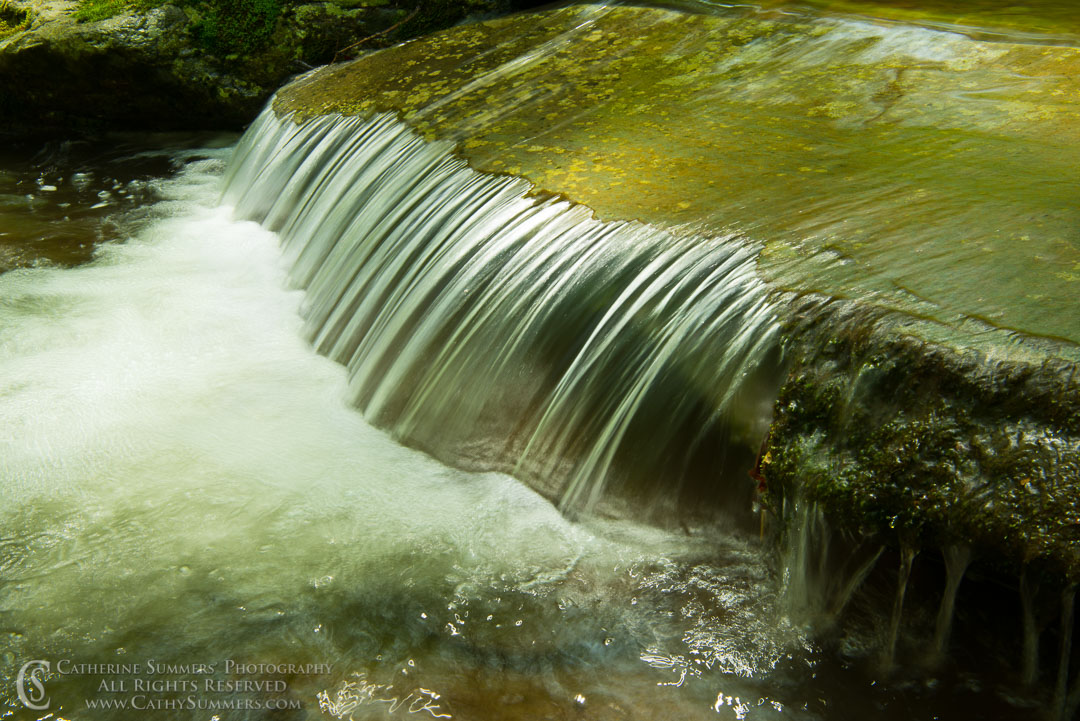 Water Pours Over a Rock Ledge - South Fork of Moormans River: Shenandoah National Park, Virginia