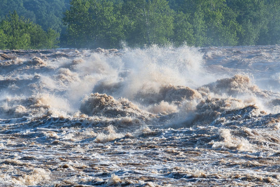 Flooded Potomac at Great Falls - Exploding Waves: Great Falls National Park, Virginia
