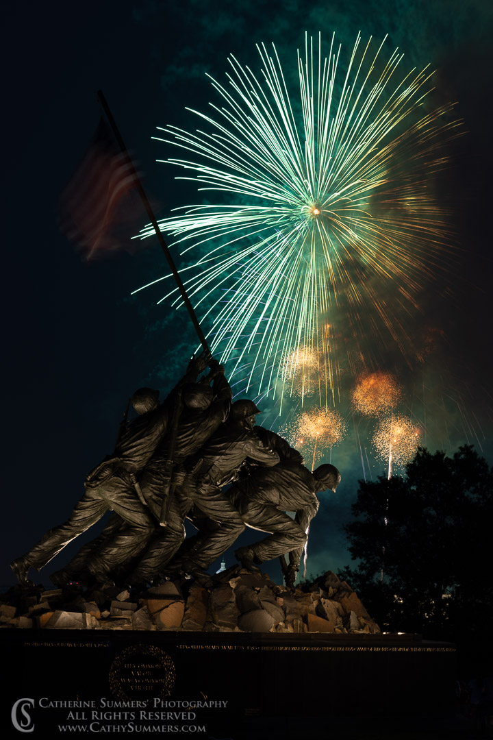 Fourth of July Fireworks at the USMC War Memorial