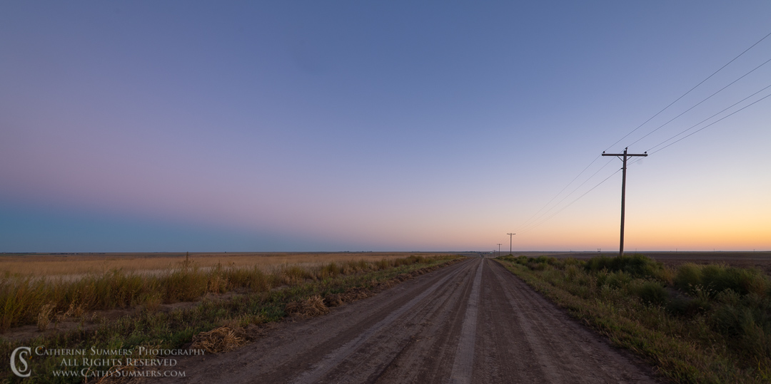 Country Road at Dawn on the Great Plains