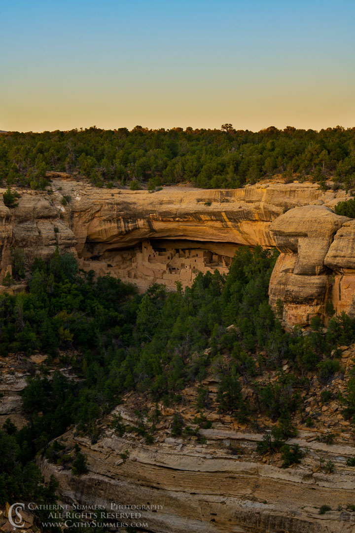 Cliff Palace at Sunset: Mesa Verde National Park