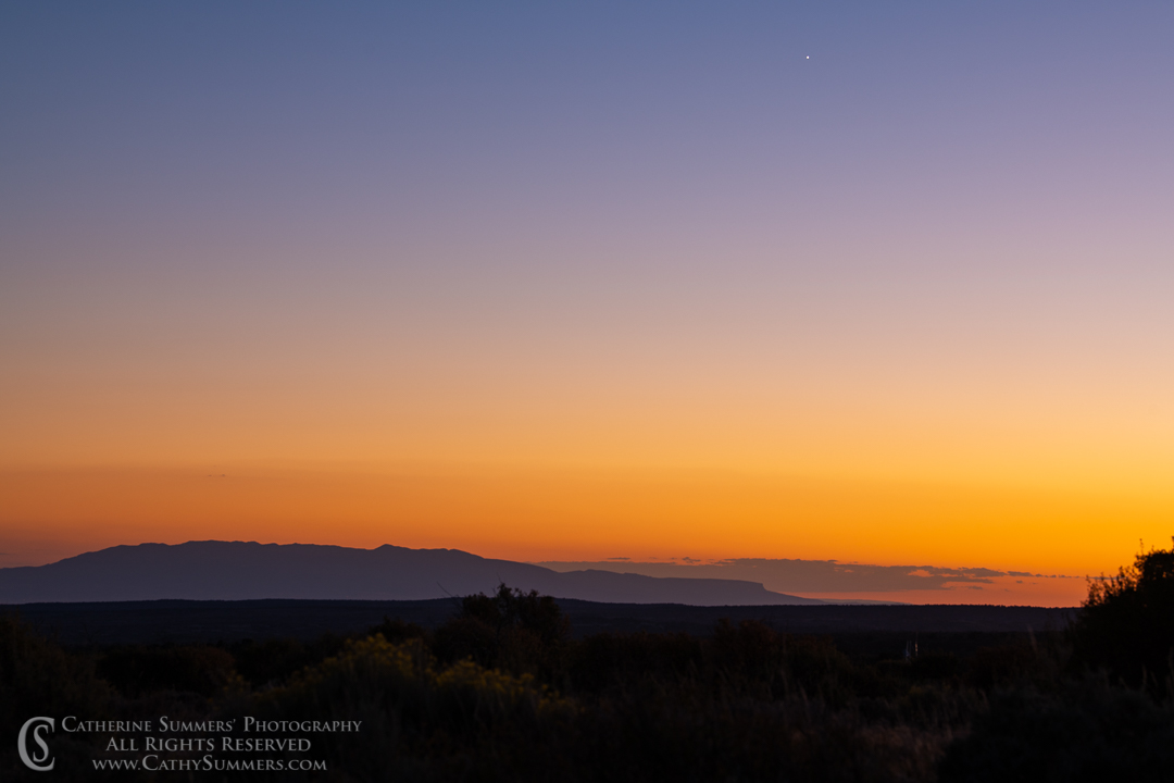 Sunset and Ute Mountains: Mesa Verde National Park