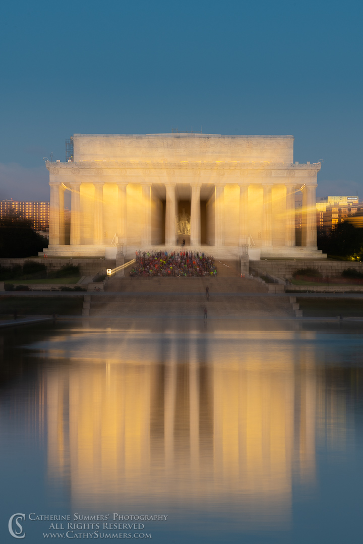 Lincoln Memorial and Reflection Zoomed Exposure: Washington, DC