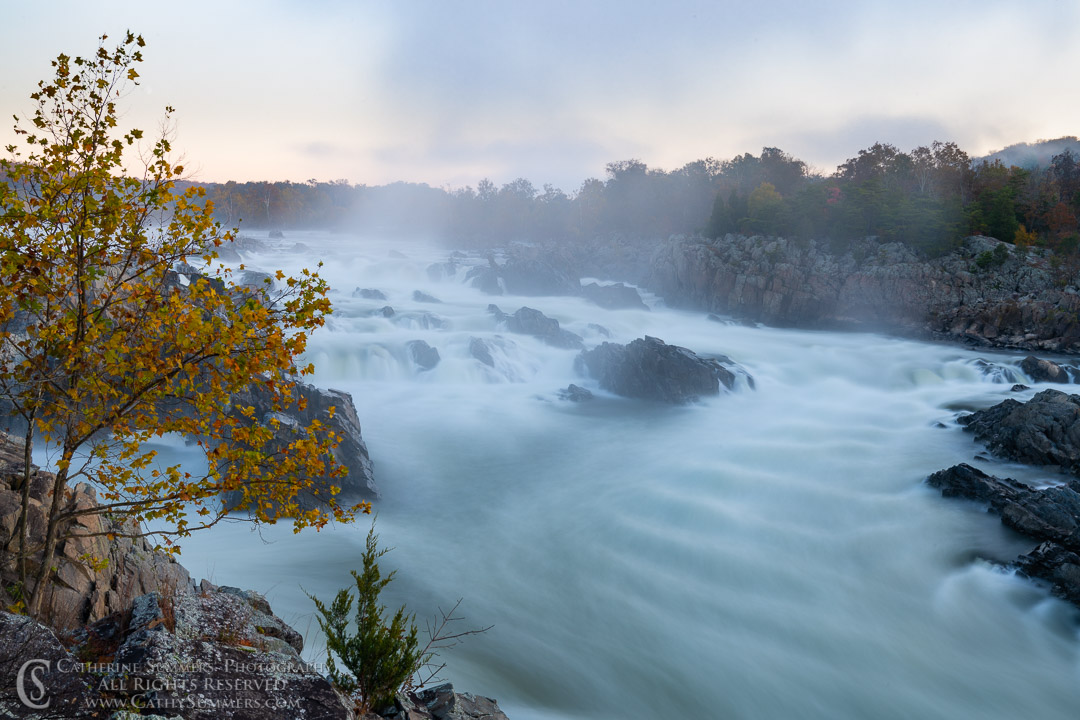 Great Falls of the Potomac - Long Exposure Before an Autumn Dawn: Great Falls National Park, Virginia