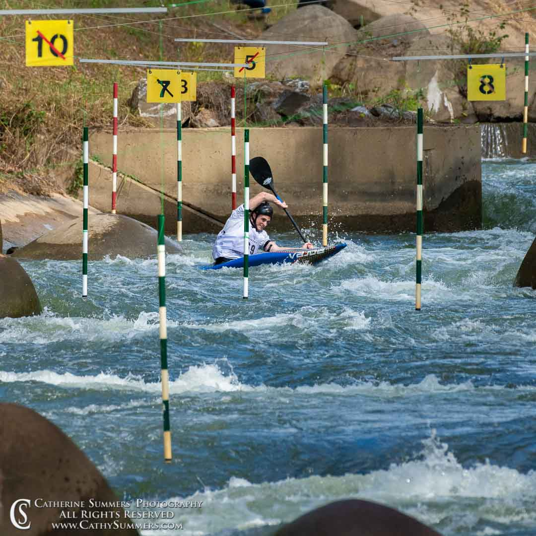 Kayaker at the 2019 Whitewater Slalom Championship