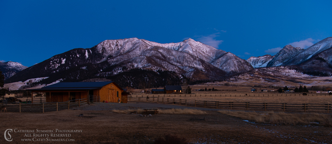 Winter Twilight in Paradise Valley - Dry Brush Effect
