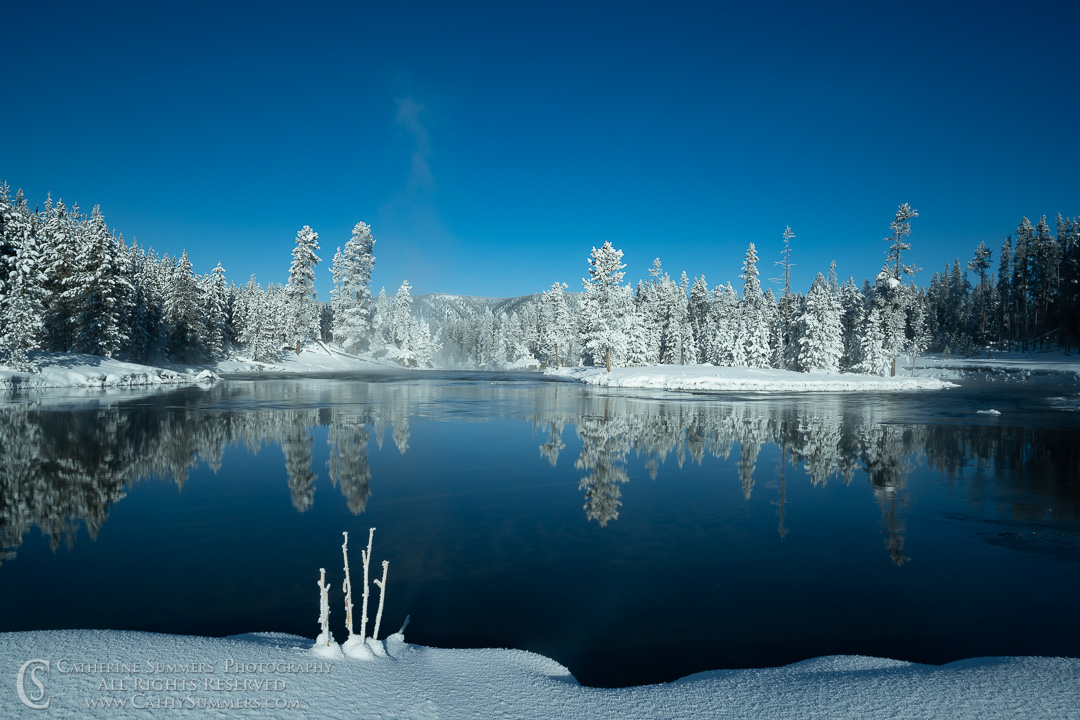 Winter Reflections in the Firehole River