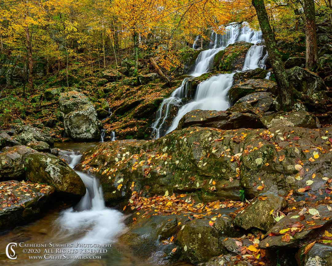 Dark Hollow Falls, stream, Shenandoah National Park, autumn, waterfall