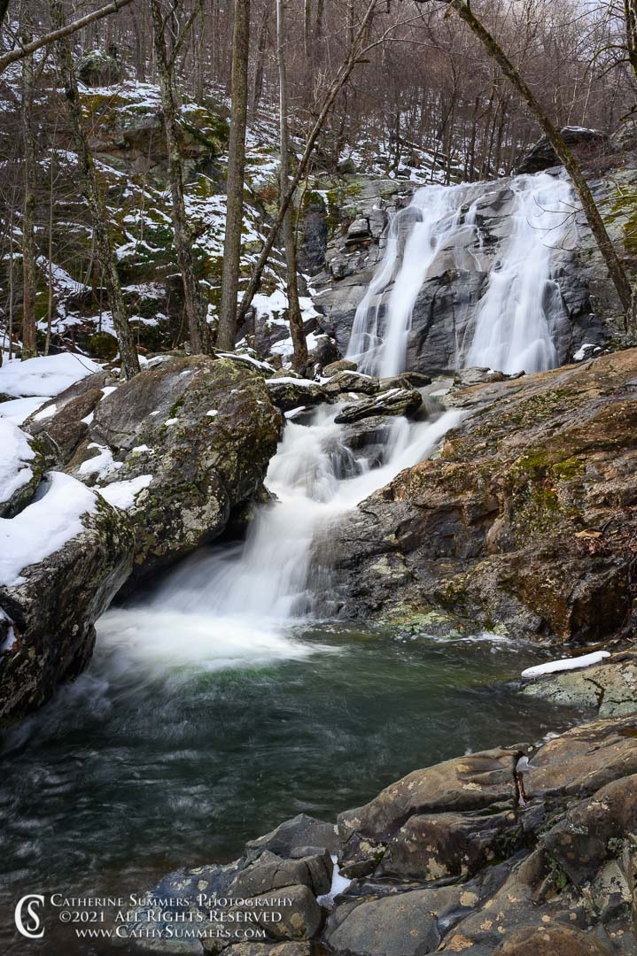 Lower Falls in White Oak Canyon on a Winter Day