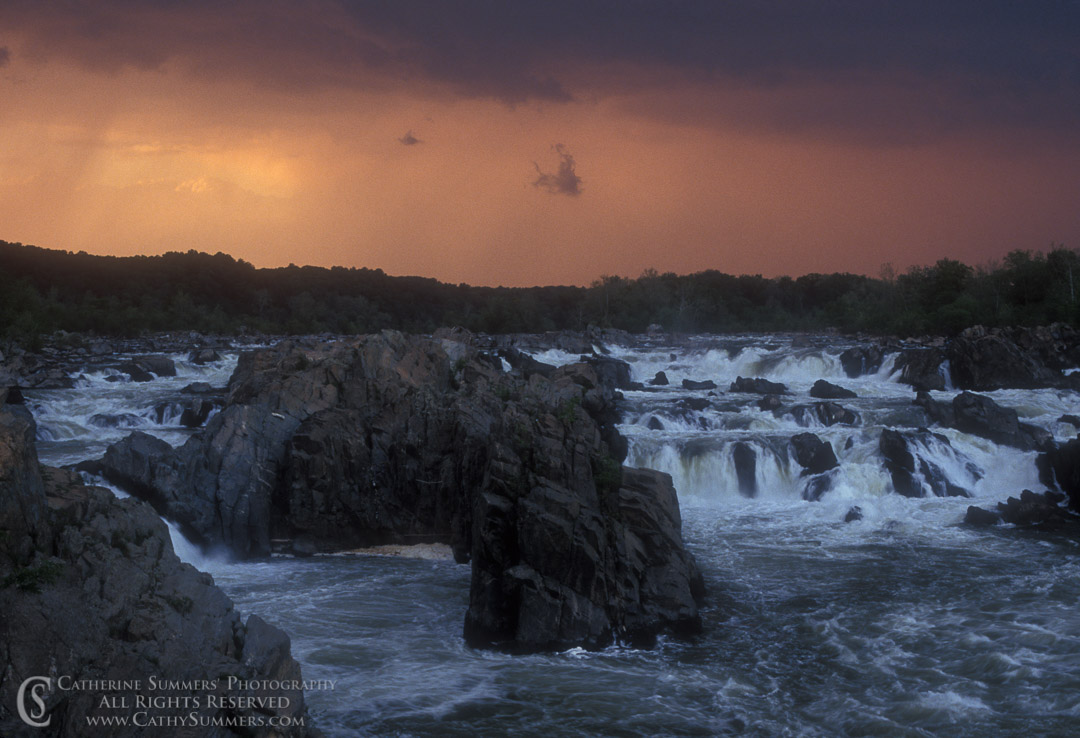 91_0465: Spring Storm at Great Falls of the Potomac