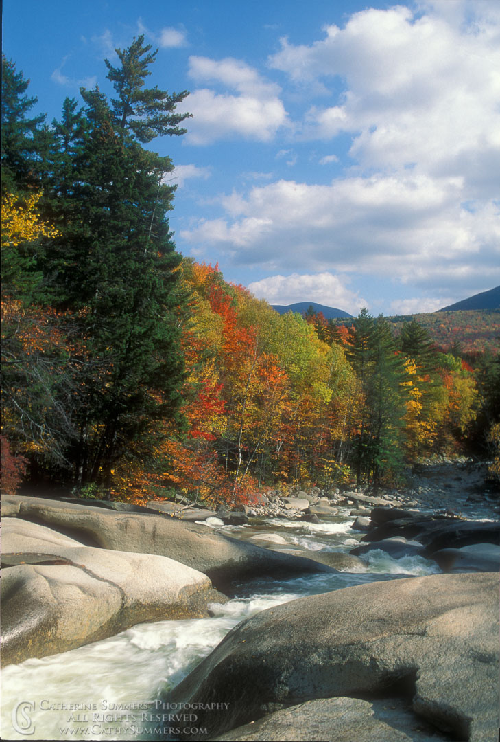 91_1310: Franconia Falls, Autumn Afternoon