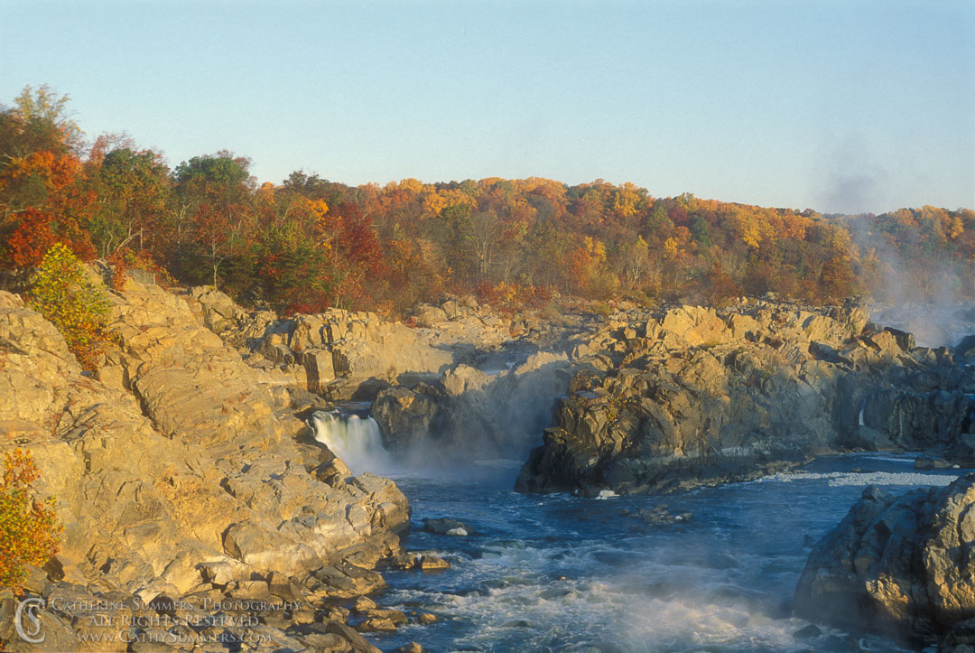 91_1412: Autumn Morning at Great Falls