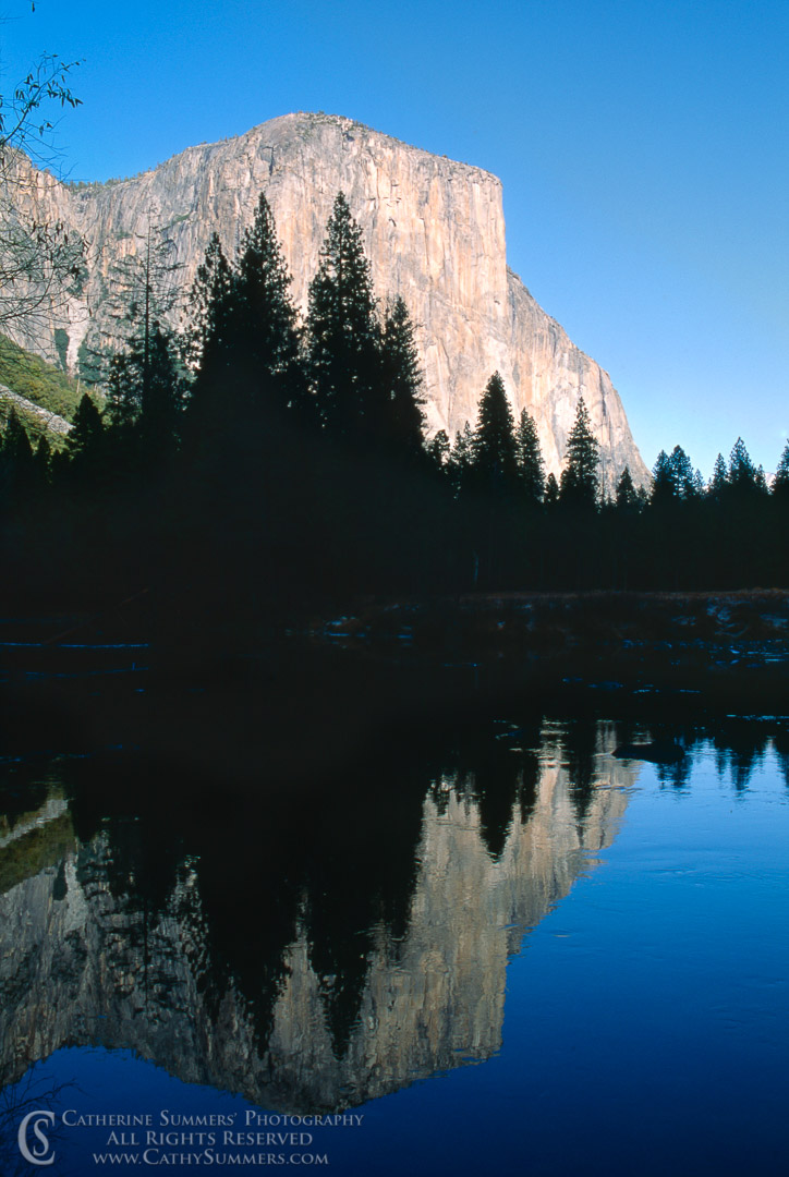 91_1911: El Capitan and Reflection in Merced River