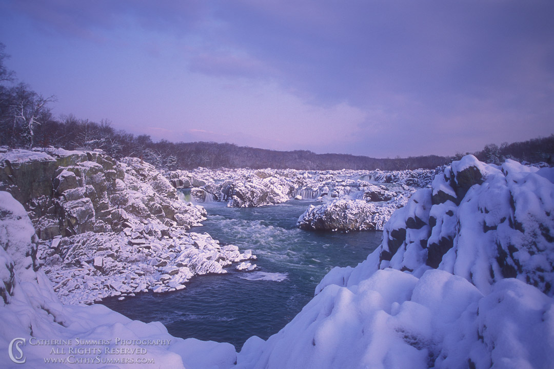 92_0041: Snowy Dawn at Great Falls