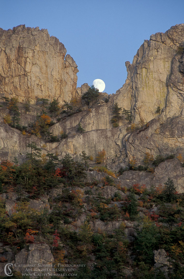 92_1428: Moonrise at Seneca Rocks #2
