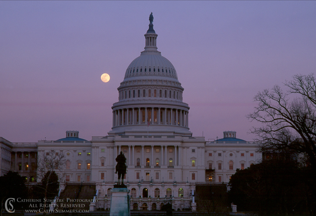 DC_1991_001: Moonrise at Capitol #1