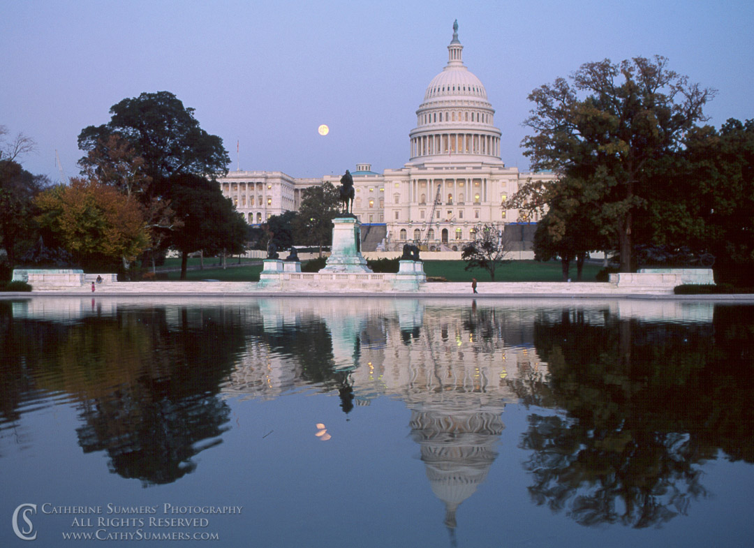DC_1991_011: Moonrise at Capitol #2