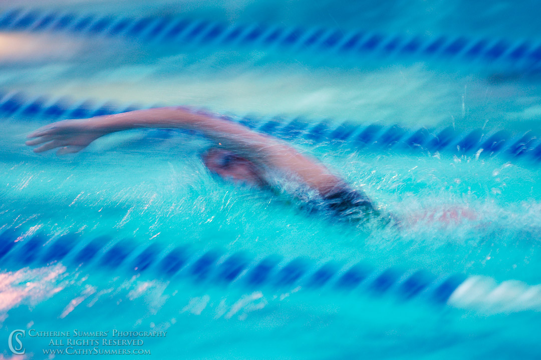 Freestyle Swimmer - Slow Shutter Speed Blur